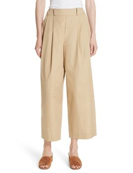 Wide Leg Polished Cotton Pants by Vince