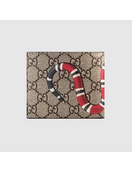 Brieftasche Aus Gg Supreme Mit Königsnatterprint by Gucci