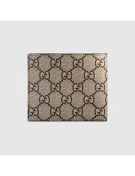 Brieftasche Aus Gg Supreme Mit Bienenprint by Gucci
