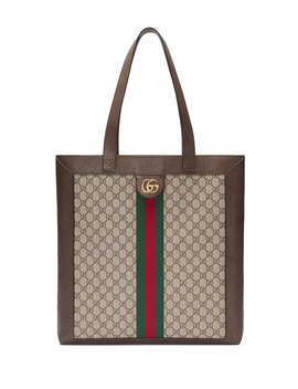 Gg Supreme Jacquard Striped Tote Bag by Gucci