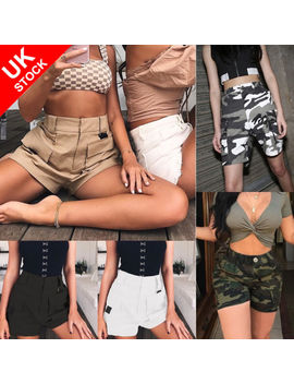 Uk Women Army Casual Work Cargo Combat Shorts Check Hot Pants Short Trousers Lot by Ebay Seller