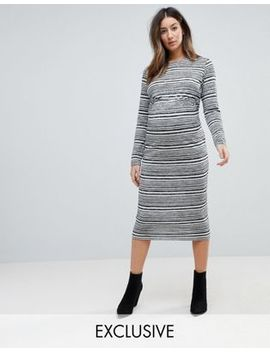 Asos Maternity Twist Back Bodycon Dress In Stripe by Asos Maternity