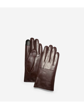 Leather Gloves With Horizontal Point by Cole Haan