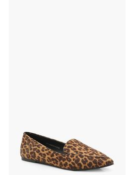 Leopard Pointed Slipper Ballets by Boohoo