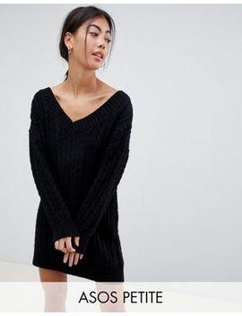 Asos Design Petite   Robe Col V Courte à Torsades by Asos Design