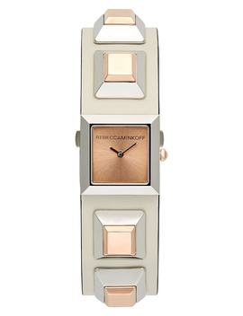 Jet Major Studded Leather Strap Watch, 22mm by Rebecca Minkoff