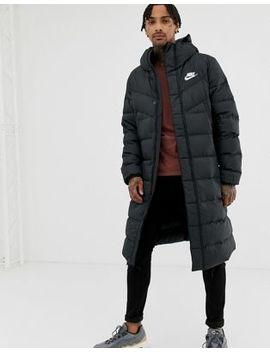 Nike Down Parka Jacket In Black Aa8853 010 by Nike
