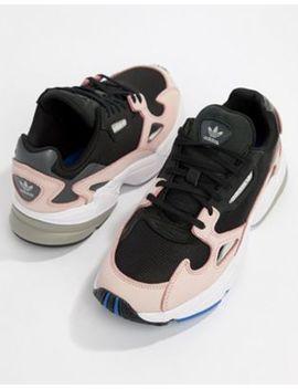 Черно розовые кроссовки Adidas Originals Falcon by Asos