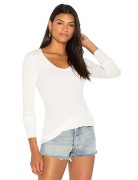 Long Sleeve Thermal V Neck Top by Bobi