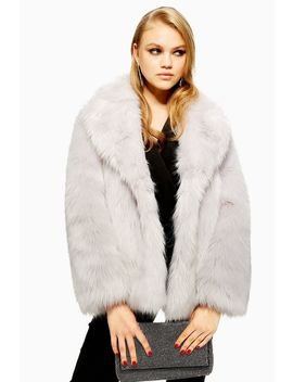 Tall Luxe Faux Fur Coat by Topshop