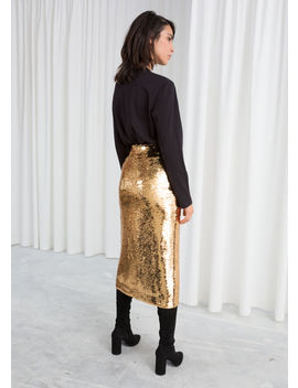 Sequin Midi Pencil Skirt by & Other Stories