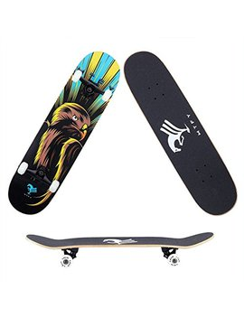 "Mtfy Skateboards Canadian Maple Wood 31"" Pro Long Boards Skateboard Double Kick Concave Cruiser Skateboards by Mtfy"