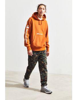 Champion Script Pullover Hoodie Sweatshirt by Champion