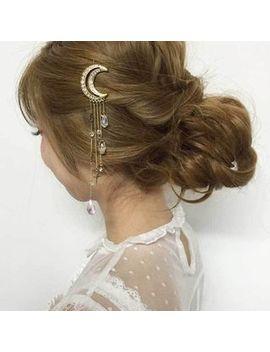 Glamiz   Rhinestone Moon Hair Pin by Glamiz