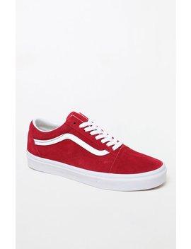 Vans Women's Red Old Skool Sneakers by Pacsun