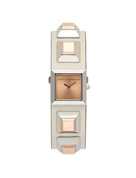 Jett Silver Tone Ecru Strap Watch, 22x22 Mm by Rebecca Minkoff