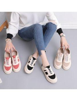 Mirasol   Faux Suede Panel Lace Up Platform Sneakers by Mirasol