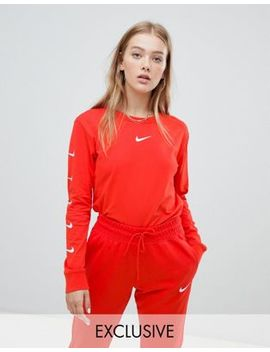 Nike Exclusive To Asos Red Swoosh Pack Long Sleeve T Shirt by Nike
