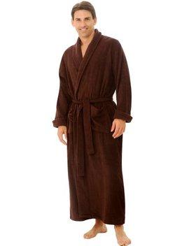 Alexander Del Rossa Mens Turkish Terry Cloth Robe, Long Cotton Bathrobe by Alexander+Del+Rossa