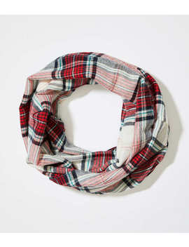 Plaid Blanket Infinity Scarf by Loft