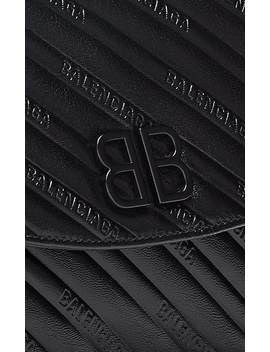 Bb Round Leather Shoulder Bag by Balenciaga