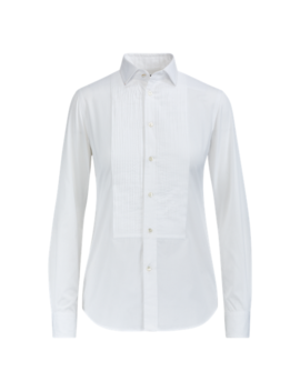 Cotton Broadcloth Tuxedo Shirt by Ralph Lauren