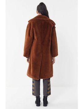 Avec Les Filles Oversized Faux Fur Cocoon Coat by Avec Les Filles