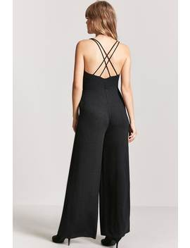 Metallic Ribbed Jumpsuit by Forever 21