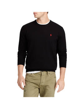 Polo Ralph Lauren Long Sleeve Merino Jumper, Polo Black by Ralph Lauren