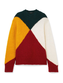 Color Block Knitted Sweater by Derek Lam