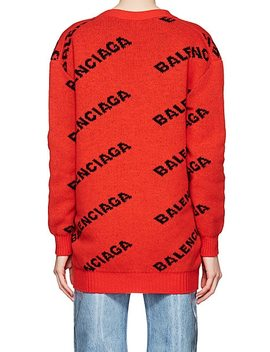 Logo Virgin Wool Cardigan by Balenciaga