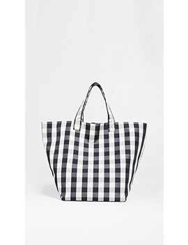 Large Gingham Grocery Tote by Trademark