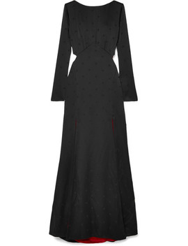Betty Cutout Satin Jacquard Gown by Temperley London