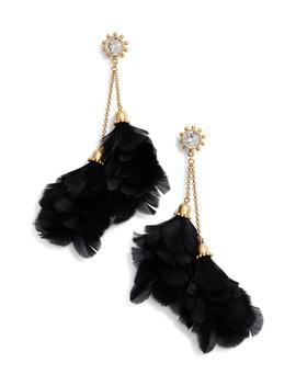 Feather Tassel Earrings by Kate Spade New York