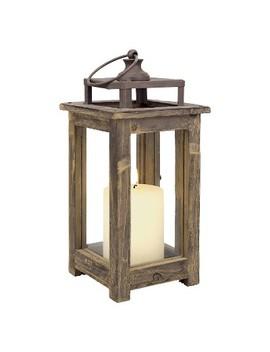 "11.8"" Rustic Wood Lantern Candle Holder   Ckk Home Decor by Ckk Home Decor"