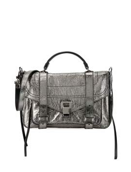 Ps1+ Medium Metallic Paper Leather Satchel Bag by Proenza Schouler