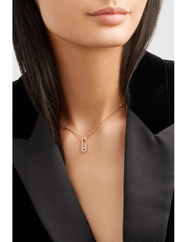 Move Addiction 18 Karat Rose Gold Diamond Necklace by Messika