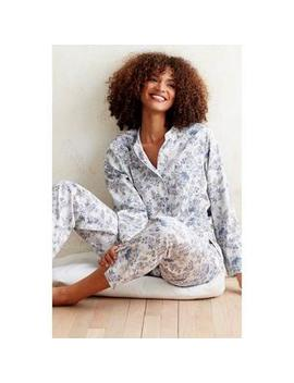 Veranda Printed Cotton Sateen Pajamas – Floral by The Company Store
