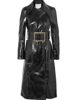 Coated Wool Blend Trench Coat by RŪh