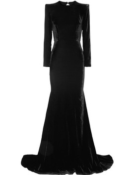 Cutout Velvet Gown by Alex Perry