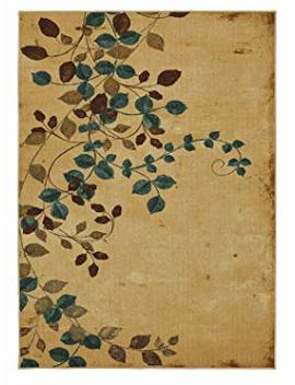 Mohawk Home Soho Plum Vine Floral Printed Area Rug, 5'x7', Beige by Mohawk Home