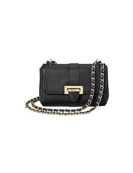 Aspinal Of London Lottie Micro Leather Cross Body Bag, Pebble Black by Aspinal Of London