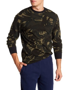 Waffle Knit Camouflage Long Sleeve Crew Neck Tee by Polo Ralph Lauren
