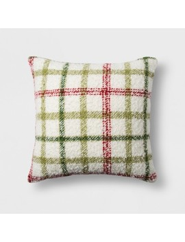Boucle Plaid Square Throw Pillow   Threshold™ by Shop This Collection
