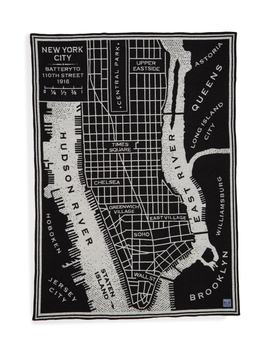 City Maps Blanket by Faribault Woolen Mill