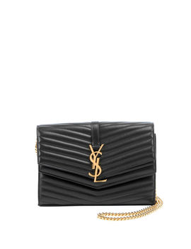 Sulpice Double Flap Crossbody Wallet On A Chain by Saint Laurent