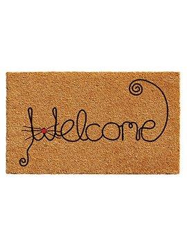"Calloway Mills 102521729 Kitty Curlicue Doormat, 17"" X 29"", Natural/Black by Calloway Mills"