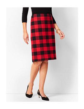 Buffalo Check Pencil Skirt by Talbots