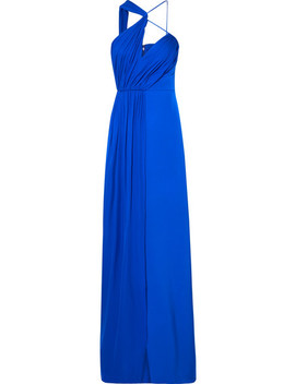 Draped Cutout Silk Georgette Gown by Cushnie