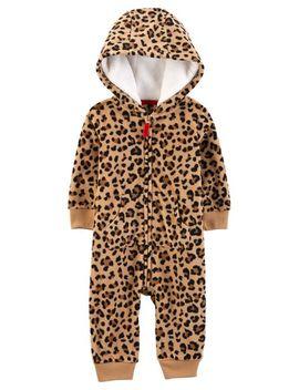 Leopard Hooded Fleece Jumpsuit by Carter's